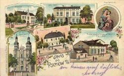 Widokówka Gruss aus Pschow - ok. 1900 r.