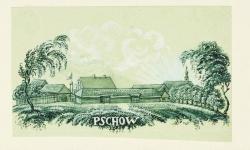 Widok wsi Pszów ok. 1847 r.