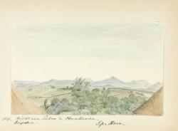 Widok z Pszowa na Beskidy 1891 r.
