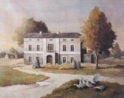 Dwór w Pszowie - obraz Henryka Topisz